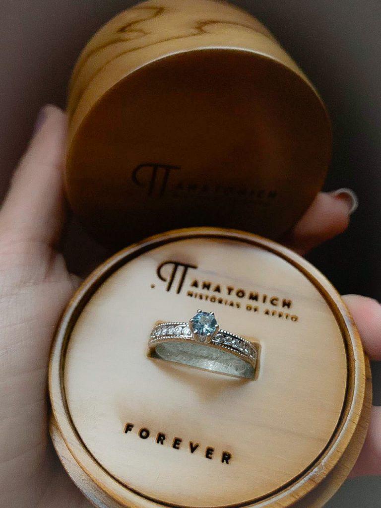 """anel de noivado """"forever"""